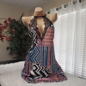 Victorias Secret Lace & satin patchwork slip NWT